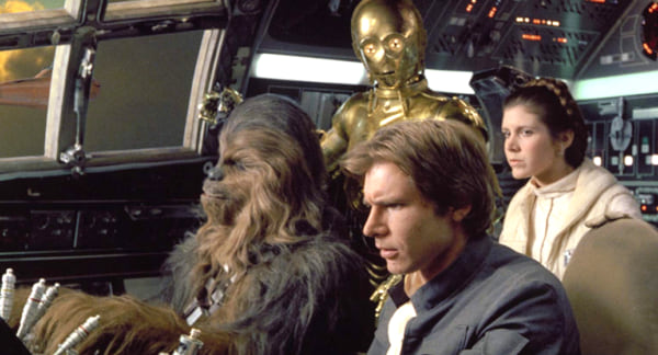 movies, celebs, star wars episode V the empire strikes back, 1980, carrie fisher, harrison ford
