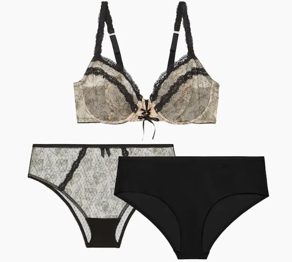 Embroidered Hearts Balconette Bra Trio from Savage X Fenty