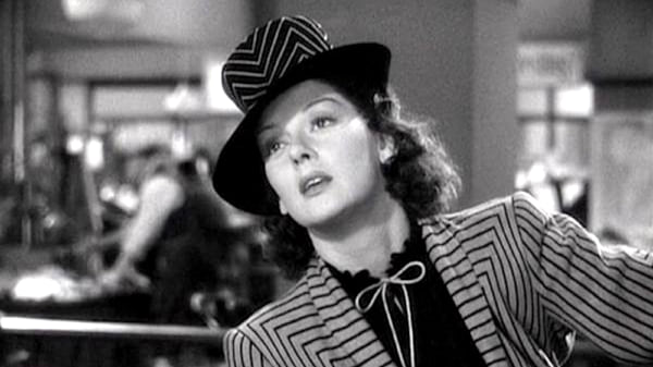 movies, celebs, his girl friday, 1941, rosalind russell