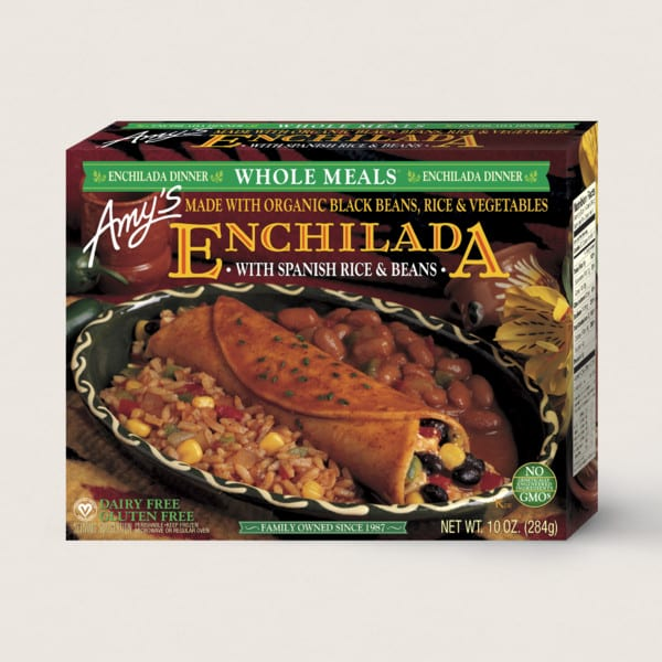 Enchilada With Spanish Rice & Beans from Amy's Kitchen
