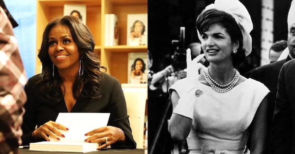 First Ladies Quote Instagram Captions, a photo of Michelle Obama and a photo of Jackie Kennedy