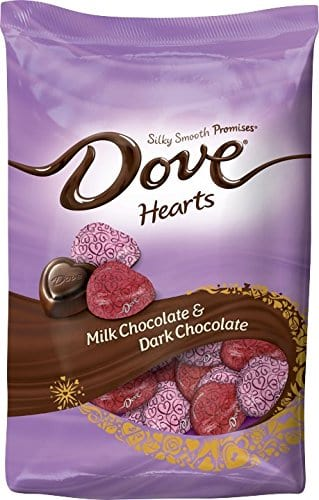 Dove Valentine's Day chocolate hearts from Amazon