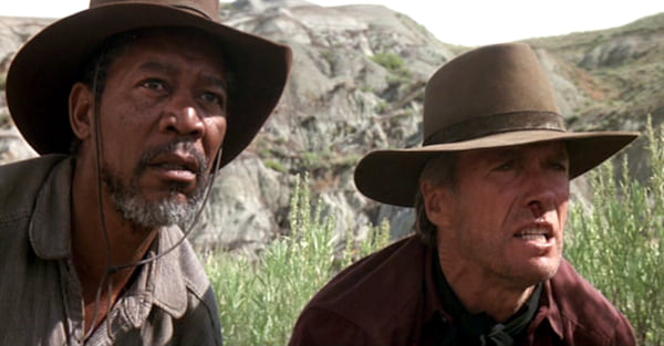 movies, celebs, Unforgiven, 1992, Morgan Freeman, Clint Eastwood
