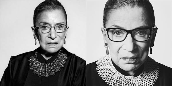 Ruth Bader Ginsburg Quote Instagram Captions, two black and white images of Ruth Bader Ginsburg, culture, politics