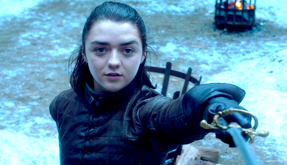 tv, celebs, game of thrones, 2017, maisie williams as arya stark