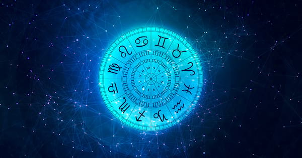 simple lineart illustration, Zodiac astrology signs for horoscope