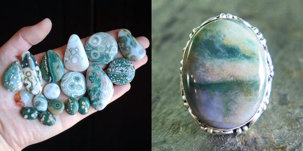 Crystals That Will Boost Your Self Care, two images of jasper crystals, health