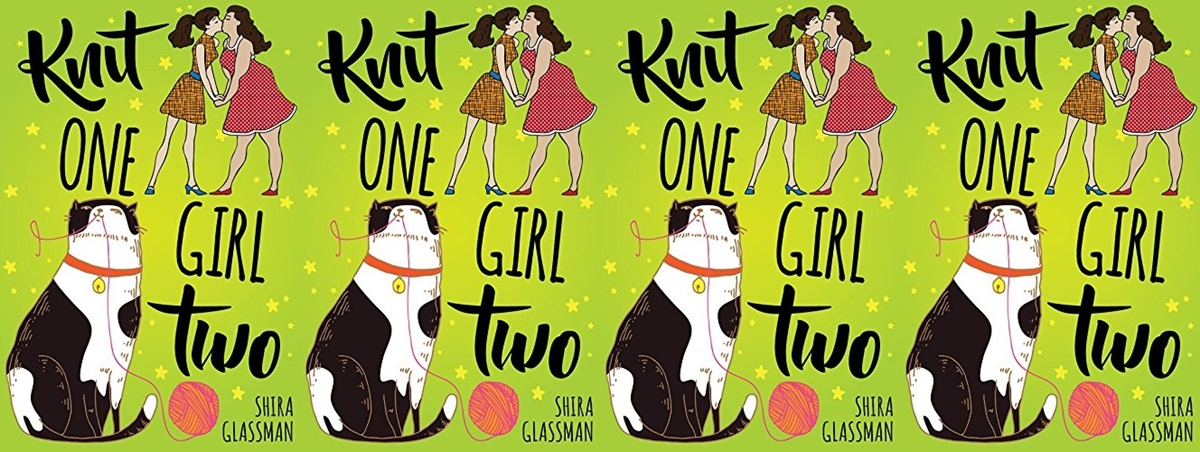 Lesbian Romances To Read For Valentine's Day, the cover of Shira Glassman's Knit One, Girl Two, books