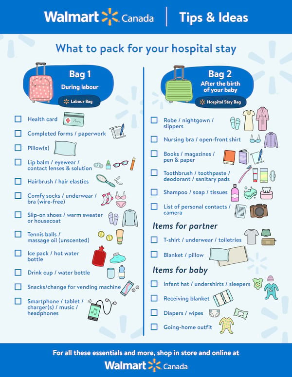 Everything You Have To Pack In Your Hospital Bag Prepare