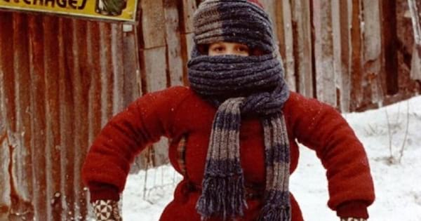 A scene from the movie \A Christmas Story.\