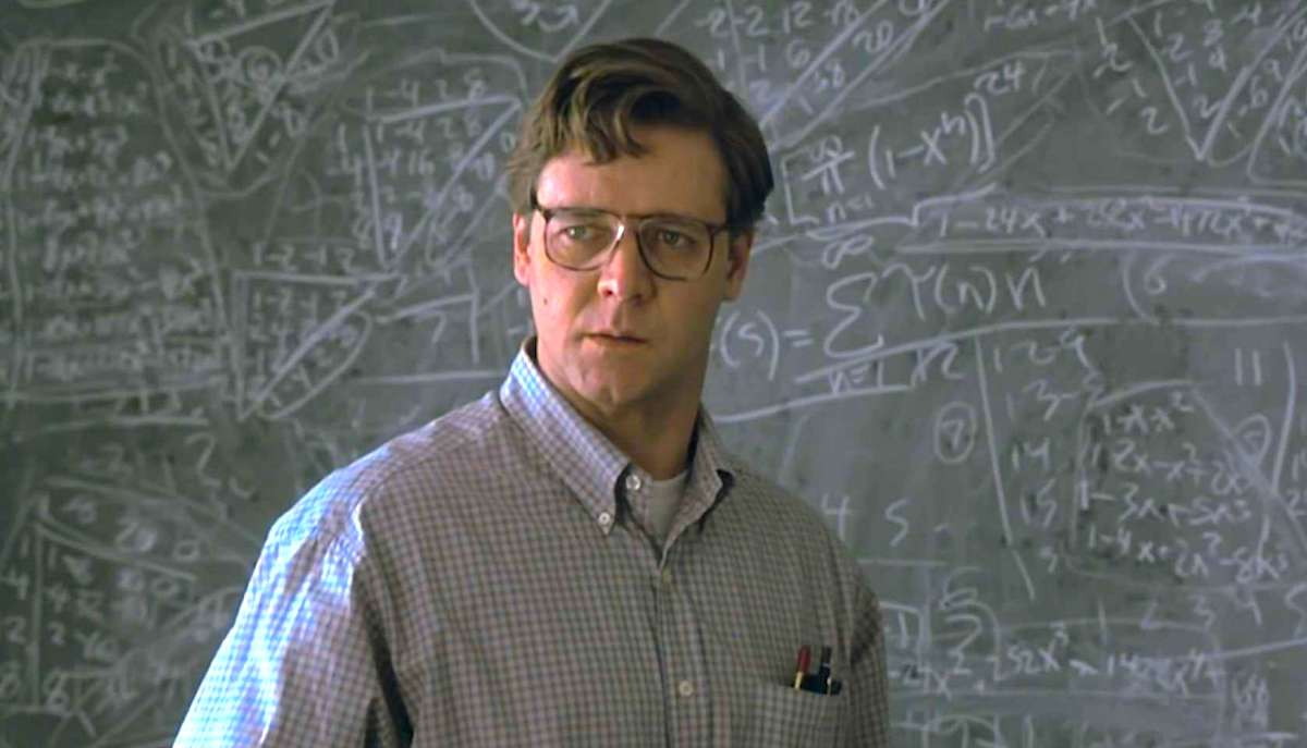 A Beautiful Mind, school, smart, movie, quiz, hero, engineer, math, teacher, glasses
