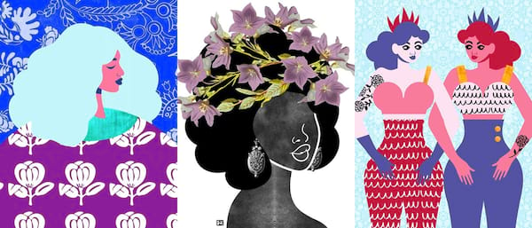 Support These Black Owned Businesses, three art prints by Tabitha Brown
