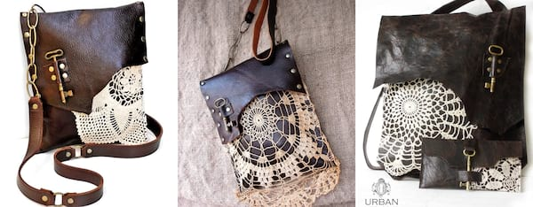 Support Black Owned Businesses, three images of leather purses, fashion