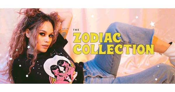 Valfre's New Zodiac Collection, a lying back wearing one of Valfre's Zodiac t-shirts, fashion