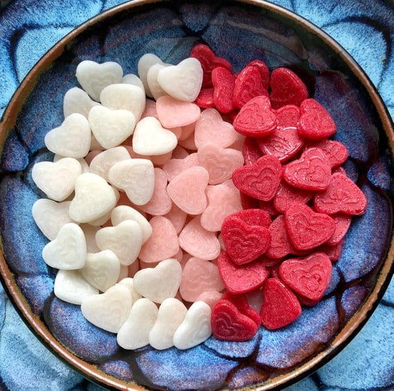 Keto Valentine's Day Candy Hearts from Etsy