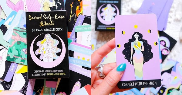 culture, two images of Goddess Provisions' Sacred Self-Care Rituals Oracle Deck, Our Review of Sacred Self-Care Rituals Oracle Deck