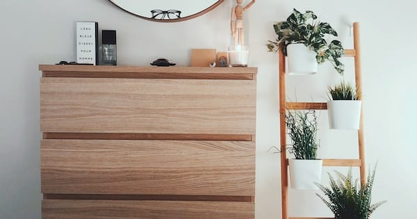 home, images of a plant stand next to a dresser, Makeover Your Home With House Plants