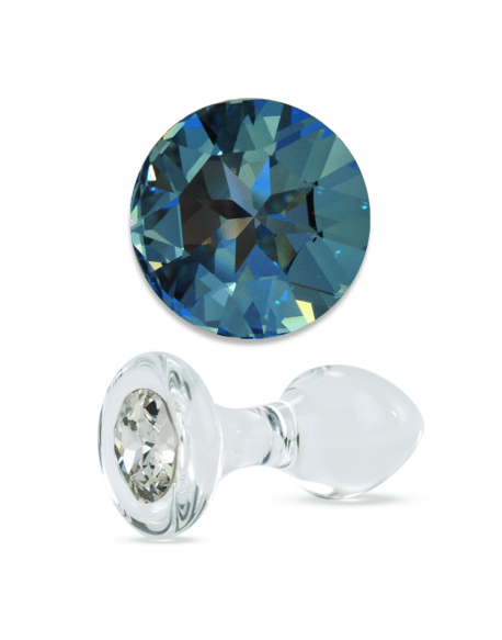 Blue Crystal Delight Butt Plug from Crystal Delights