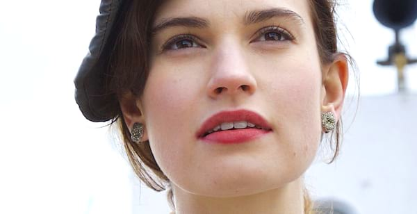 Lily James, guernsey, literary, movie, books, reading, personality