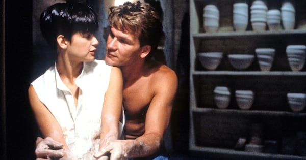 Demi Moore and Patrick Swayze in the ceramics scene from Ghost