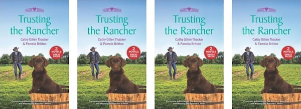 books, the cover of the book Trusting the Rancer by Cathy Gillen Thatcher and Pamela Britton, Western Romance Novels