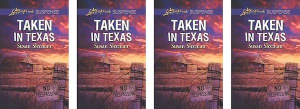 books, Taken in Texas book cover by Susan Sleeman, Western Romance Books