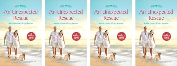 books, cover of the book An Unexpected Rescue by Marion Lennox and Tracy Madison, Harlequin Romance Novel