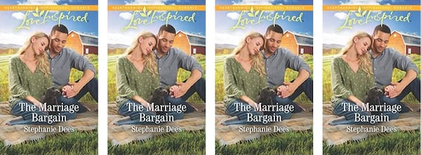 Harlequin Romance Books, The Marriage Bargain book cover by Stephanie Dees, books