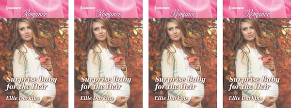 Harlequin Romance Books, Surprise Baby for the Heir book cover by Ellie Darkins, books