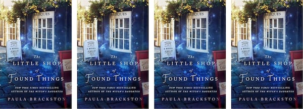 books, cover of The Little Shop of Found Things by Paula Brackston, Time Travel Romance Novels