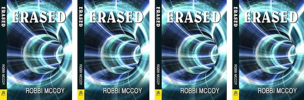 books, cover of Erased by Robbi McCoy, Time Travel Romance Novels