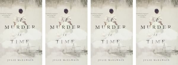 books, cover of A Murder in Time by Julie McElwain, Time Travel Romance Novels
