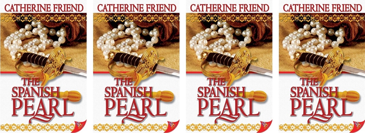 Time Travel Romance Novels, cover of The Spanish Pearl by Catherine Friend, books