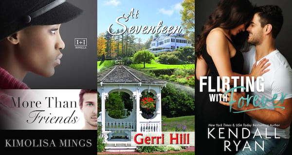 books, three book covers of friends to lovers romance novels, Friends to Lovers Romance Novels