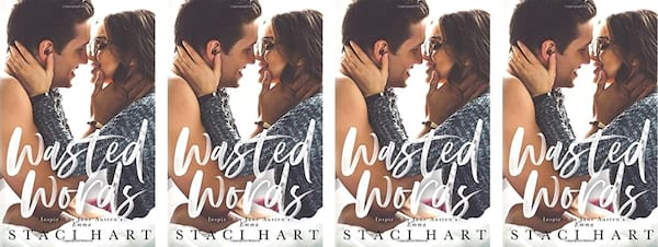 books, cover of Wasted Words by Staci Hart, Friends to Lovers Romance Books