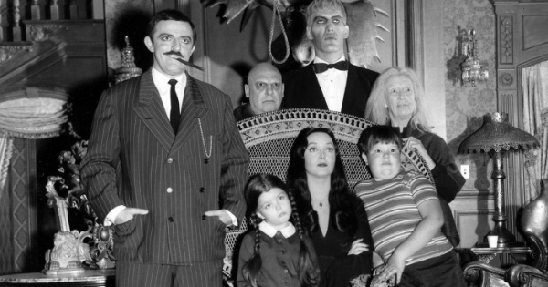 addams family black and white 1960s television series