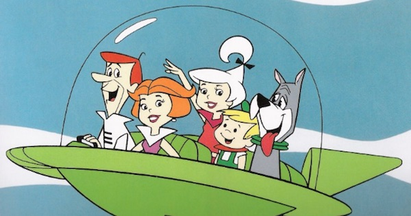 the jetsons flying car animated television show 1960s