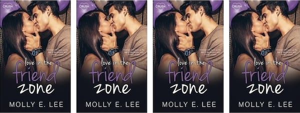 books, cover of Love in the Friend Zone by Molly E. Lee, Friends to Lovers Romance Novels