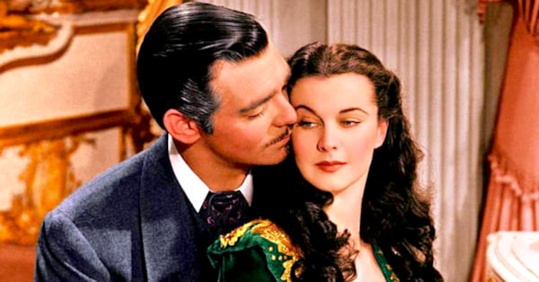 1939, AMC, vivien leigh as scarlett o'hara, clark gable as rhett butler, gone with the wind, movies