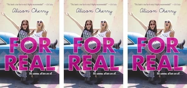 Reality Show Romance Novels, cover of For Real by Alison Cherry, books, tv