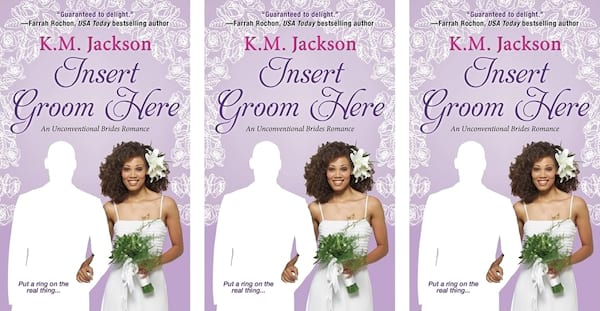 Reality Show Romance Novels, cover of Insert Groom Here by K.M. Jackson, books, tv