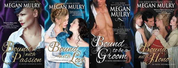 Inclusive Romance Series, four covers from Megan Mulry's Regency Reimagined series, books