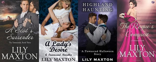 Inclusive Romance Series, four books from Lily Maxton's The Townsends series, books