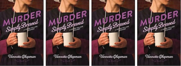 Amish Romance Novels, cover of Murder Simply Brewed by Vannetta Chapman, books