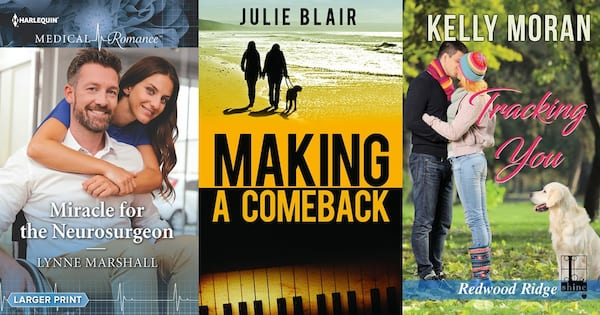 Disabled Romance Novels, three book covers of romance novels featuring disabled characters, books