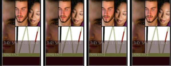 books, the cover of They Say Love is Blind by Pepper Pace, Disabled Romance Novels
