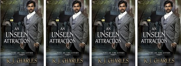 books, cover of An Unseen Attraction by K.J. Charles, Disabled Romance Novels
