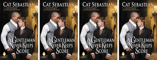 books, cover of A Gentleman Never Keeps Score by Kat Sebastian, Modern Romance Novels Jane Austen Would Love