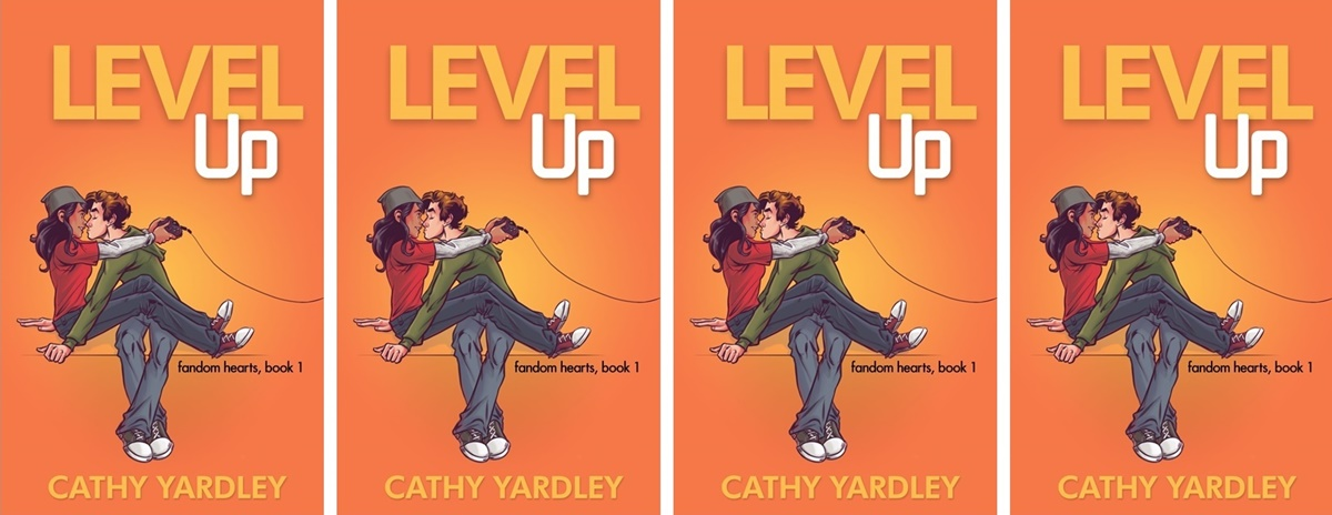 College Romance Novels, cover of Level Up by Cathy Yardley, books