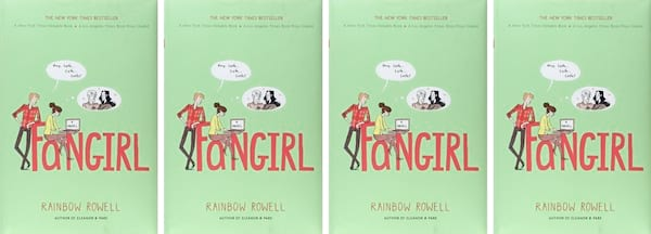 College Romance Novels, cover of Fangirl by Rainbow Rowell, books
